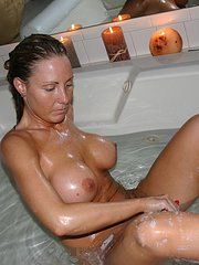 hairy blonde mature amateur wife first time on camera